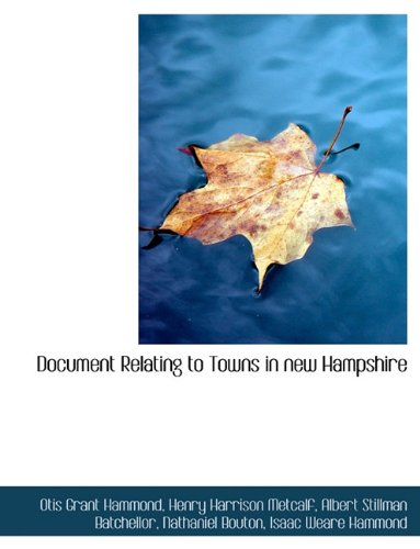 Document Relating to Towns in New Hampshire pdf