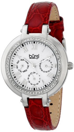 Burgi Women's BUR085BUR Analog Display Japanese Quartz Red Watch