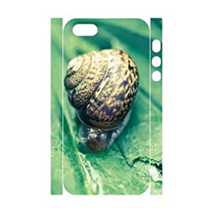 3D IPhone 5,5S Case Protection Cute Snail, Snail Iphone 5s Cases for Teen Girls [White]