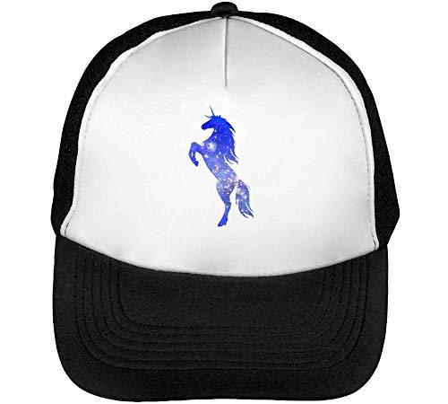 Snapback Negro Blanco Celestial Beisbol Hombre Unicorn Gorras gSPzSq