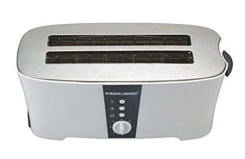 Black & Decker ET124 1350W 4-Slice Toaster (Non-USA Compliant), White by BLACK+DECKER (Image #1)'