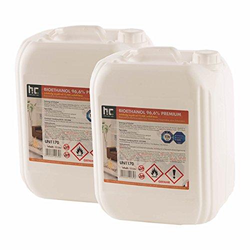 3 x 10 L Bio Ethanol Premium 96,6% für Kamin - versandkostenfrei - im handlichen 10 L Kanister - TÜV SÜD zertifiziert