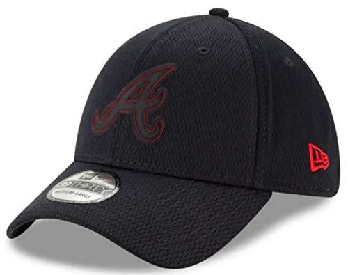 New Era 2019 MLB Atlanta Braves Hat Cap Clubhouse Rubber Logo 39Thirty (S/M) Navy
