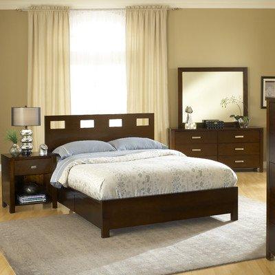 - Modus Furniture RV26D5 Riva Platform Storage Bed, Queen, Chocolate Brown