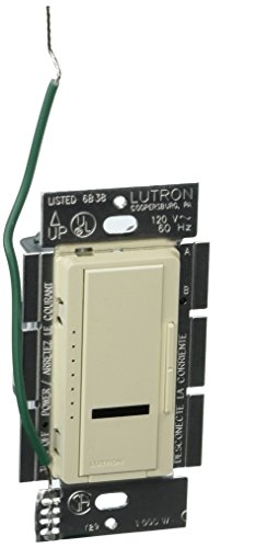 Lutron Maestro 1000-Watt IR Dimmer Switch for Incandescent and Halogen Bulbs, Single-Pole or Multi-Location, MIR-1000M-LA, Light Almond