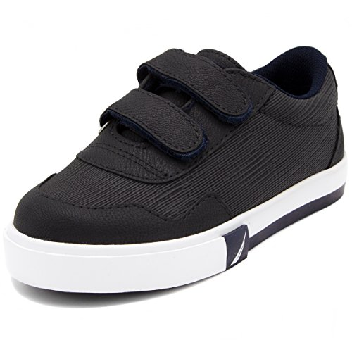 Toddler Casual Shoes, Velcro Fashion Sneaker-Navy Textured-8 ()