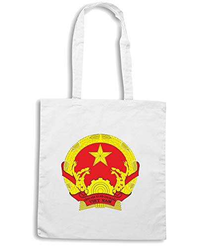 TM0266 FLAG Shopper Speed VIET Bianca Borsa Shirt NAM1 g1qn0IS