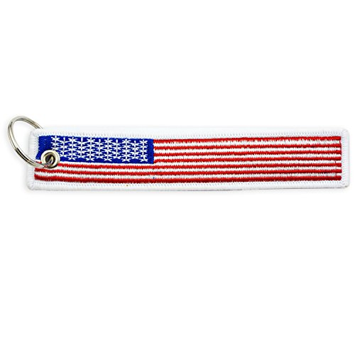 Apex Imports American Flag Remove Before Flight Style Key Chain Motorcycle ATV Car Truck (Flag Car Keychain)