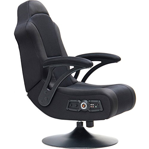 Pedestal Video Rocker Gaming Chair, Built-In Bluetooth Technology, 2 Speakers, Powerful Subwoofer, Optional RCA Cables, Ace Bayou's innovative AFM Technology, Kid's Furniture Item - Ace Bayou Rocker