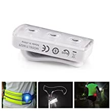 Rocontrip Safety Light, Clip On LED Running Light for Runners, Bike, Dogs or Joggers, High Visibility Sports Strobe Light
