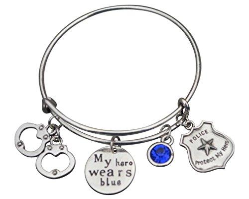 Police Jewelry, Police Wife Bracelet, Proud Police Wife Charm Bracelet - Makes Perfect Gift for Wife (Jewelry Police)