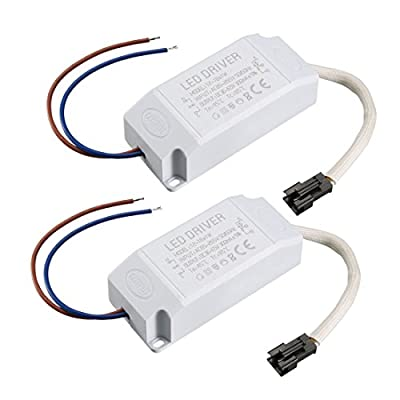 uxcell LED Driver 12-18W Constant Current 300mA AC 85-265V Output 36-65V Power Supply LED Ceiling Lamp Rectifier Transformer 2Pcs