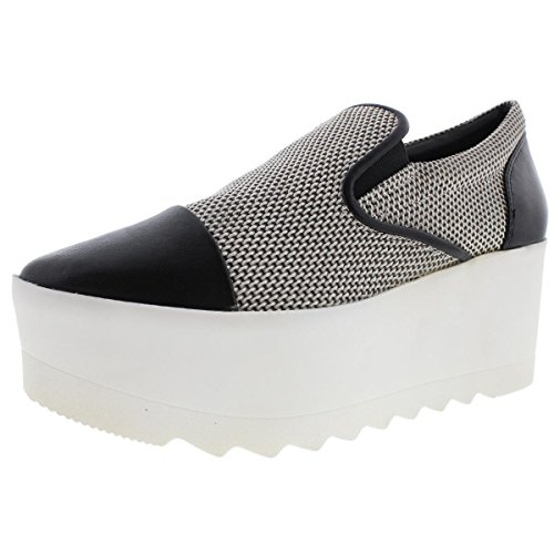 KENDALL + KYLIE Women's Tanya3 Fashion Sneaker, Black/White, 8.5 M - White And Black Kendall And Kylie