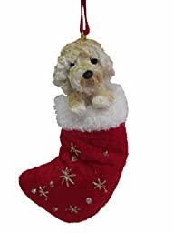 Goldendoodle Christmas Stocking Ornament with \