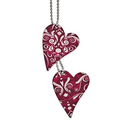 Cincel® - tatuaje de acero inoxidable Destino Corazón Collar 24 ...