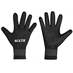 ZCCO 5MM Neoprene Gloves for Men and Women,Perfect for Snorkeling,Scuba Diving ,Surfing,Kayaking,Rafting,Spearfishing,Sailingand all other water sports.5mm thickness gloves suitable for Water temperatures from 10°C to 24°C or more ( 50°F to 7...