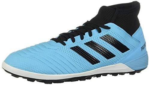 adidas Men's Predator 19.3 Turf Soccer Shoe, Bright Cyan/Black/Solar Yellow, 9.5 M US