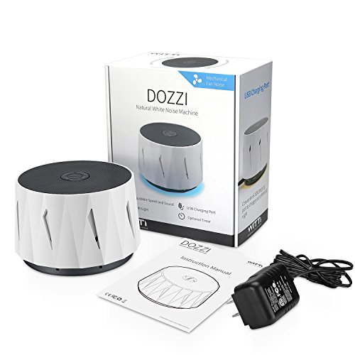WITTI DOZZI | White Noise Noise Machine for Baby, Sleeping, Office Privacy. Lightweight Portable for Travel, Hotel Sleep. Natural White Noises Maker, Set Tone & Fan Volume by WITTI (Image #2)