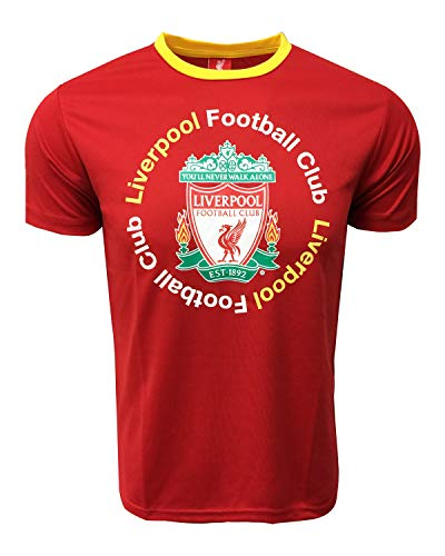 (Liverpool Official F.C. Shirt for Kids, Red and Black Football Jerseys (Red, Youth X-Large 13-15 Years) )