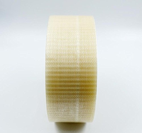 HobbyUnlimited Double Bond Bi-Directional Fiberglass Filament Reinforced Strapping Tape 50mm x 50m (2in x 55yds) 5.9 Mil