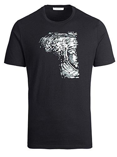 (Versace Collection Black Half Medusa T-shirt (S))