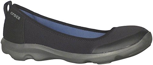 Crocs Women's Duet Busy Day 2.0 Satya Flat, Black/Graphit...