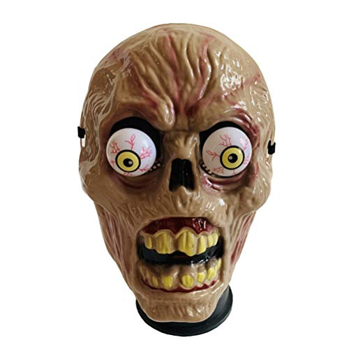 Amosfun Halloween Horror Mask Spring Eyeball Cosplay Masks Costume Prop Accessory Masquerade Mask for Halloween Bar Party Costume (Zombie Pattern)