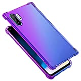Case for Galaxy Note 10 Plus,Gradient Color Scratch-Resistant Perfect Slim Fit Thin Shockproof Flexible Soft Clear TPU Silicone Rubber Case Cover for Galaxy Note 10 Plus Silicone Case,Purple Blue