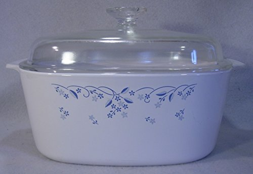Corning Ware Provincial Blue Pattern Huge 5 Liter Casserole with Lid