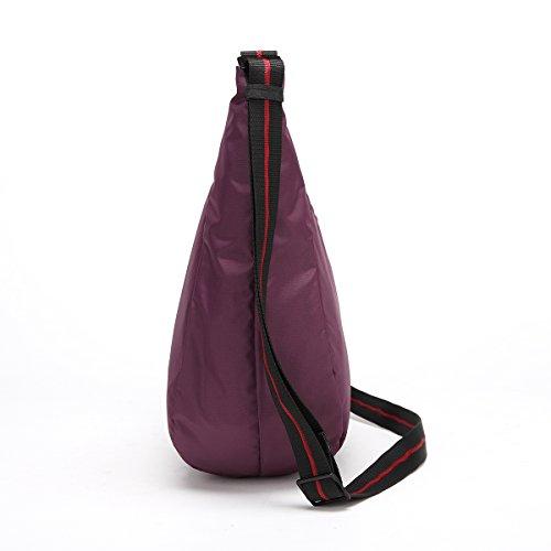 EliteShine compatto pieghevole, pratico e leggero da viaggio ripiegabile in Nylon compatto, V1235A Zaino Daypack, Zaino, colore: viola