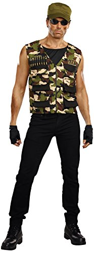 Dreamgirl Men's Friendly Fire Man Costume, Multi,