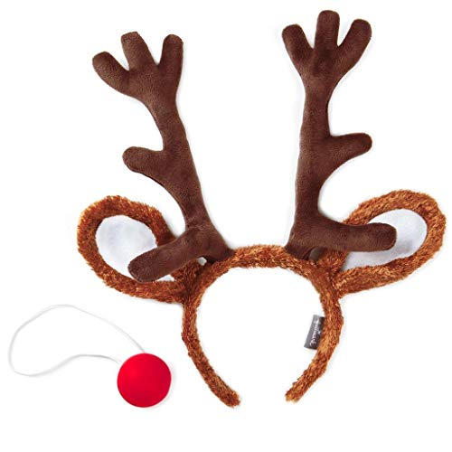 Hallmark Rudolph The Red-Nosed Reindeer Dress-Up Nose and Antlers Set -