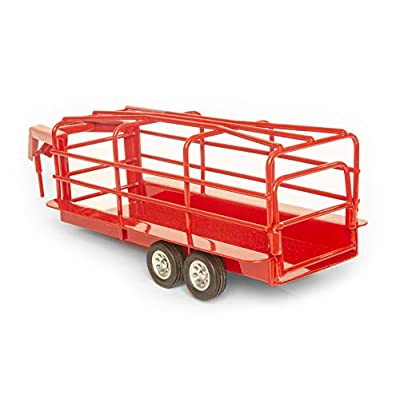 Little Buster Toys Gooseneck Ranch Trailer - Red, 1/16th Scale: Toys & Games