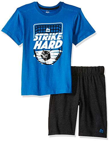 (RBX Boys' Big 2 Piece Performance Top and Short Set, Strike Blue, 10)