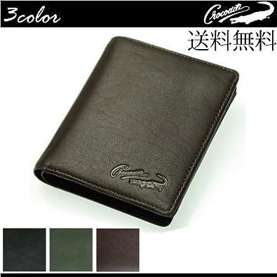 5ac8fee9cf1a Crocodile(クロコダイル) 本革ラムスキン 二つ折り 財布 [81cr25] メンズ 財布 パス