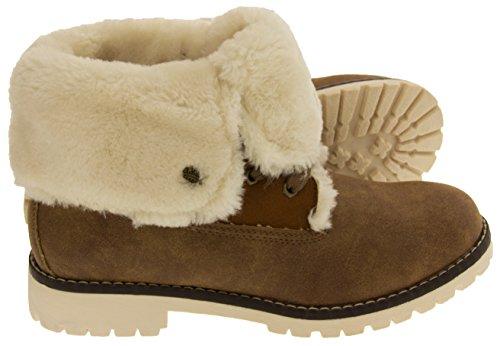 Footwear Studio Keddo Womens Warm Lined Winter Ankle Boots Brown P1hefa