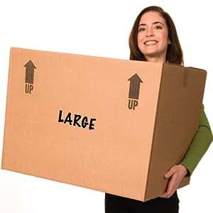 Amazon.com : EcoBox Large Moving Boxes Genuine Size 24 x