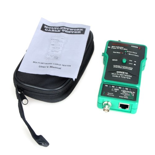 Kingzer MS6810 Multi Network Cable Tester Meter For RJ45 Coaxial Cable BNC AT&T258A from KINGZER
