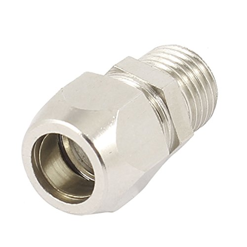 "UPC 702105292884, 1/4"" PT Threaded Adapter Hose Pipe Quick Joint Coupler Silver Tone"