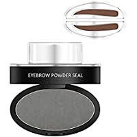 Hot Eyebrow Powder! Mjun Brow Stamp Powder Waterproof Natural Perfect Enhancer Straight United Eyebrow Eyebrows Enhancer (Dark gray)