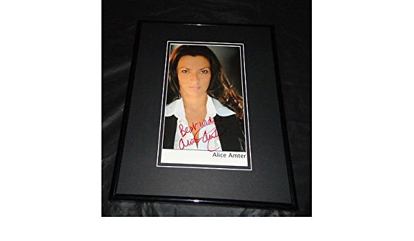 Alice Amter Signed Framed 8x10 Photo Big Bang Theory Heroes Er At Amazon S Sports Collectibles Store She is multilingual and possesses an inate deftness with accents which have been fueled by. alice amter signed framed 8x10 photo