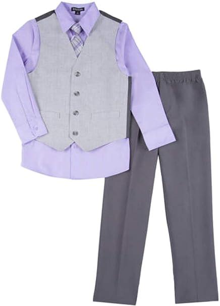 Amazon.com: Traje para niños de 4 piezas, color morado y ...