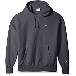 Champion LIFE Men's Reverse Weave Pullover Hoodie, Dark Screen Pigment Dyed, M