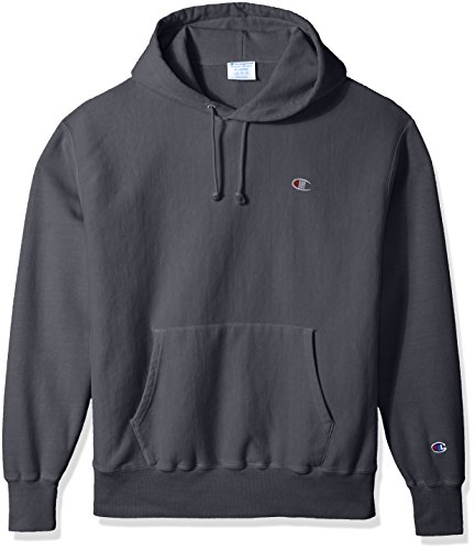 Champion LIFE Men's Reverse Weave Pullover Hoodie, Dark Screen Pigment Dyed, (Pigment Dyed Pullover Hoodie)
