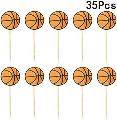 35pcs de baloncesto Cupcake Toppers cumpleaños pastel de postre de ...