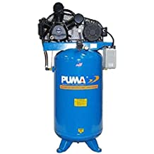 Puma Industries TUK-5080VM Air Compressor, Professional/Commercial/Industrial Two Stage Belt Drive Series, 5 hp Running, 175 Maximum psi, 230/1V/Phase, 80 gal, 560 lb.