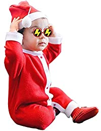 Christmas Newborn Infant Baby boy Girl Clothes Outfit Long Sleeve Santa Romper Jumpsuit Pajama Onesie