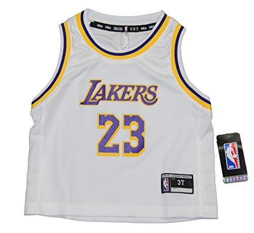 - Outerstuff Lebron James Los Angeles Lakers Toddler NBA Replica Jersey - White