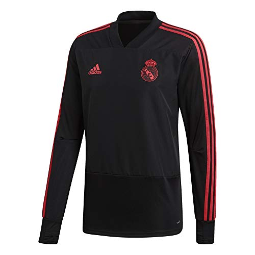 Real Madrid Training Top - adidas 2018-2019 Real Madrid Ultimate Training Top (Black/Real Coral) (M)