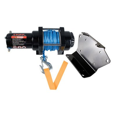 TUSK Winch with Synthetic Rope and Mount Plate 3500 lb. - Fits: Yamaha KODIAK 450 4x4 Auto 2018